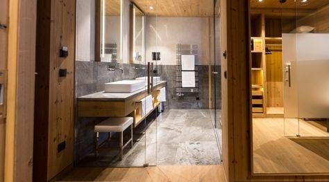 Sportresidenz Zillertal Uderns Lifestylehotels Badezimmer Steinoptik Zillertal