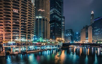 Image Result For High Resolution 4k Chicago Chicago Wallpaper Chicago At Night Chicago Winter