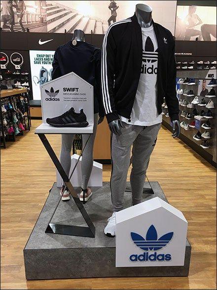 Adidas Swift Dual Pedestal Shoe Display | Shoe display, Shoe store ...