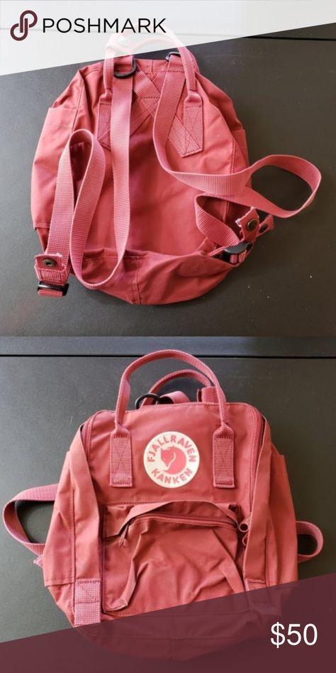 heet product officiële foto's goedkoop kopen fjallraven kanken mini backpack Dusty Red Only used 2-3 ...
