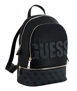 Rucksack Guess Skye Backpack Coal schwarz grau Logoprint