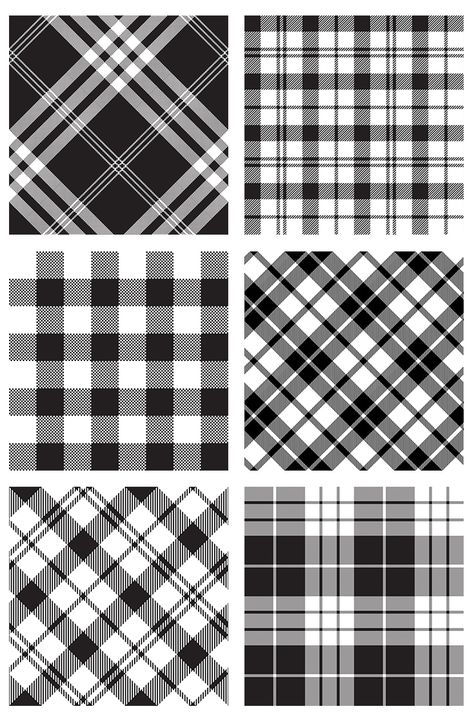 Black and white vector patterns texture.