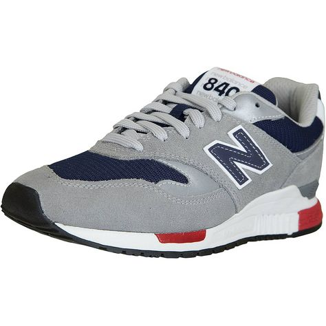 ☆ New Balance Sneaker 840 Leder/Textil/PU grau/dunkelblau ...