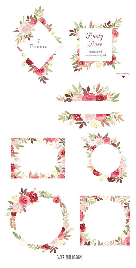 Rusty Rose Complete Design Set by Paper Sun Design on @creativemarket This Rusty Red Roses design is composed of perfectly complimenting shades of red, brown, pink and maroon. Makes a lovely autumn design but also perfect for all year round. Use for making cards, invitations, prints, wedding invitations, on your blog, for your logo and on your website and many other digital projects. [ad] Rusty Rose Complete Design Set by Paper Sun Design on @creativemarket