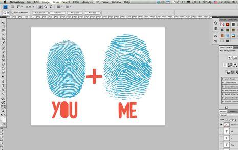 Make your own fingerprint art