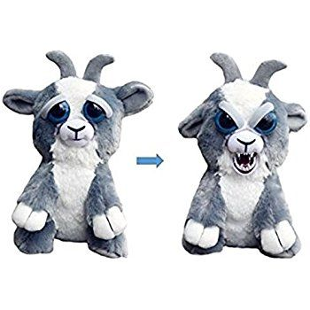 William Mark Feisty Pets Junkyard Jeff Adorable Plush Stuffed Goat That Turns Feisty With A Squeeze Animal Plush Toys Animated Animals Plush Animals