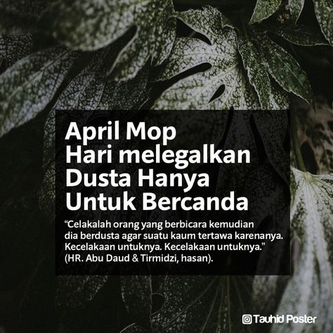 Pin Oleh Tauhid Poster Di Sebar Faedah 2 April Mop Sahabat