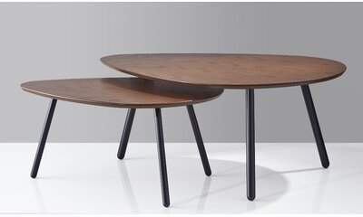 George Oliver Irvin Nesting 2 Piece Coffee Table Set George Oliver In 2020 Table Oval Coffee Tables Table Settings