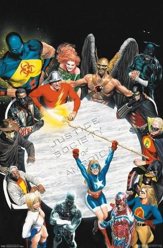 Dc Comics The Justice Society Of America Table Meeting Prints Allposters Com In 2021 Justice Society Of America Comics Alex Ross