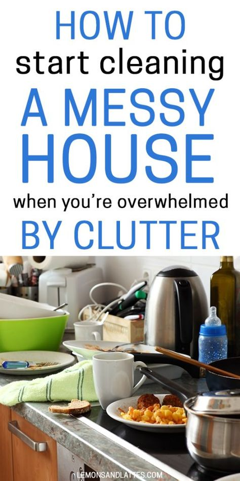Diy Household Tips 356839970479010567 - How to start cleaning a messy house when you're overwhelmed by clutter. Tips for tackling a messy house when you have no idea where to start. Source by lemonsandlattes