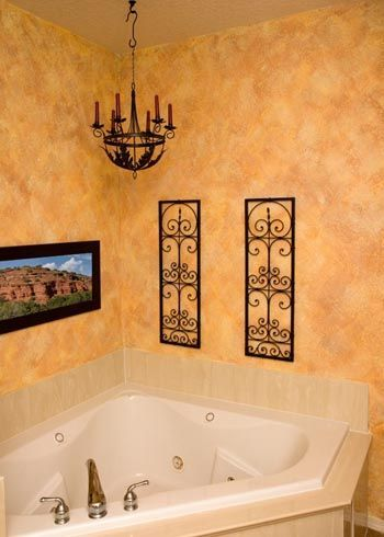 I Love The Texture And Warmth Of The Walls They Did It By Sponge Painting Painting Bathroom Sponge Painting Walls Faux Painting