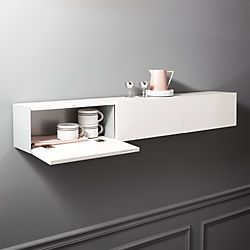 Hide N Seek Large White Storage Shelf Modern Shelving Shelves