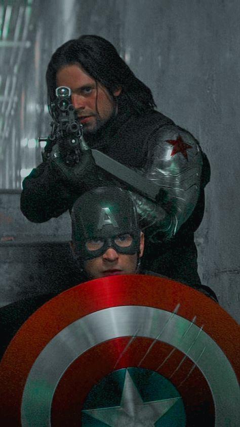 Steve + Bucky lockscreens