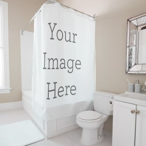 Create Your Own Shower Curtain Bathroom Model Personalized