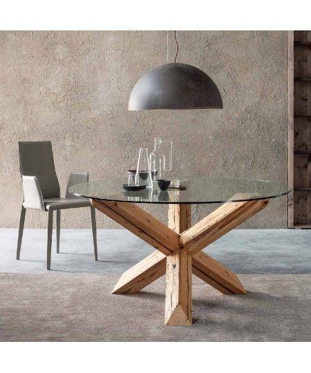 Tavoli Rotondi In Cristallo Design.Sedit Tavoli Rotondi In Legno Travo Nel 2020 Tavolo Rotondo