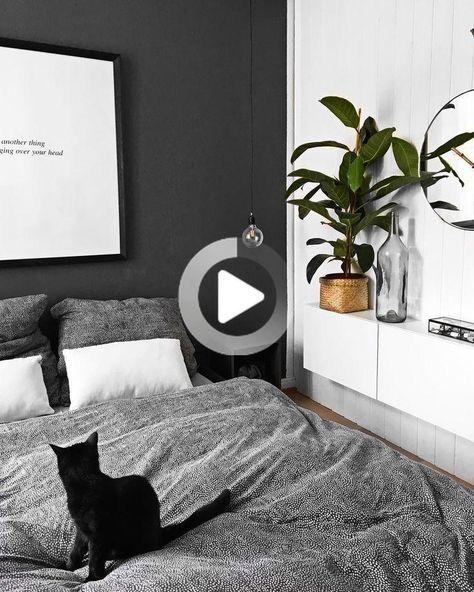 Chambre Minimaliste Noir Et Blanc Avec Plante Interiordesign