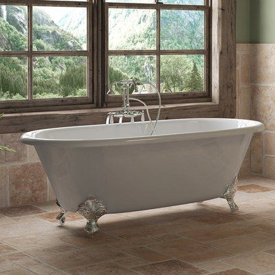 Cambridge Plumbing 67 X 30 Clawfoot Bathtub Finish Polished Chrome In 2020 With Images Clawfoot Bathtub Soaking Bathtubs Clawfoot Tub