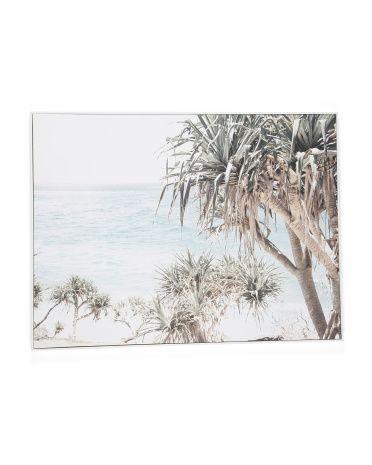 40x30 Coastal Palms Canvas Wall Art Living Room Marshalls Canvas Wall Art Living Room Palms Canvas Wall Canvas