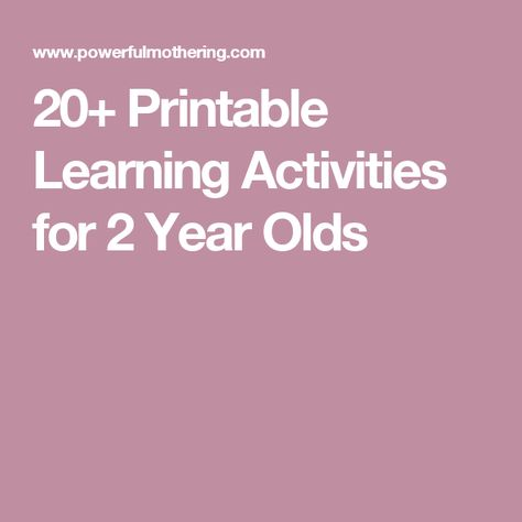 eabef991b557 20+ Learning Activities and Printables for 2 Year Olds