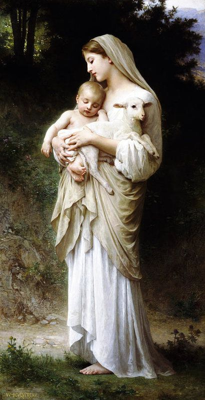 Innoncence by William Adolphe Bouguereau Handmade oil painting reproduction on canvas for sale,We can offer Framed art,Wall Art,Gallery Wrap and Stretched Canvas,Choose from multiple sizes and frames at discount price. William Adolphe Bouguereau, Religious Paintings, Religious Art, Oil Painting On Canvas, Canvas Art, St Jean Baptiste, Beaux Arts Paris, La Madone, Catholic Art