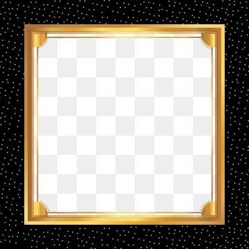 Atmospheric Black Gold Frame Lines Business Background 골드 배경 검은 배경 템플릿