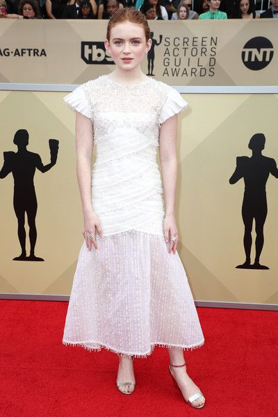 Actor Sadie Sink attends the 24th Annual Screen Actors Guild Awards.