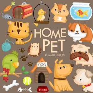 Home Pet Animal Clipart Dog And Cat Clip Art Cute Animal Etsy In 2021 Cute Animal Clipart Animal Clipart Animal Clipart Free