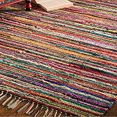 Indian Arts Fair Trade Rag Rug Hand Loom 100 Recycled Multicolour 60 X 90cm Cotton Amazon Co Uk Welcome Recycled Rugs Rag Rug Handmade Rag Rug