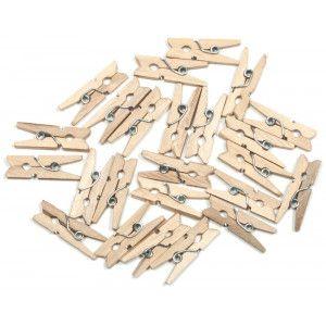 Klamerki Mini 24 Szt 25 Mm Naturalne Hair Accessories Crafts Wood