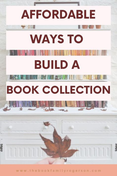 If you apply a little time and effort, it's possible to build a book collection on a very low budget. These tips are designed to help you #bookcollection #cheapbooks #homelibrary #bookshelves