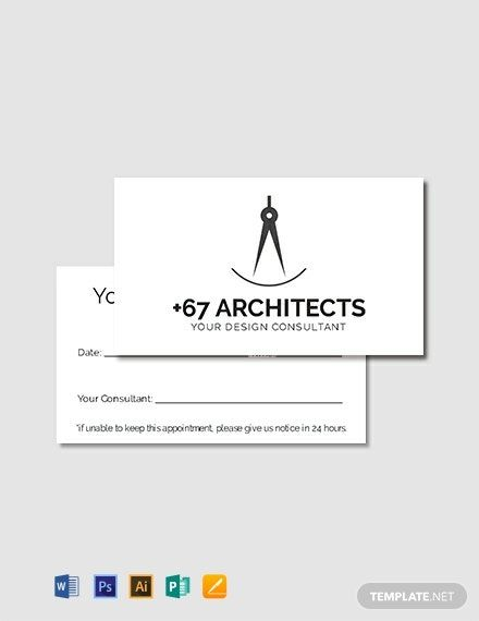 Simple Appointment Card Template Free Pdf Word Psd Apple Pages Illustrator Publisher Card Templates Free Appointment Cards Card Template