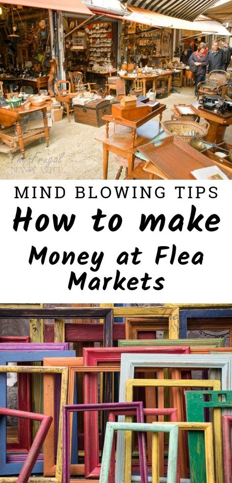 12 Mind Blowing Tips on How to Make Money at Flea Markets - If you are a Flea M. 12 Mind Blowing Tips on How to Make Money at Flea Markets - If you are a Flea Market lover as I am these are the best tips out there on how to Make Money at Fl - Hgtv Flea Market Flip, Brimfield Flea Market, Flea Market Booth, Flea Market Finds, Flea Market Crafts, Flea Market Displays, Flea Market Style, Store Displays, Whatsapp Marketing