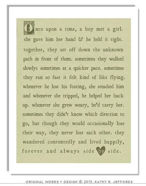 Love Poem Print Unique Wedding Gift For Couple by thedreamygiraffe