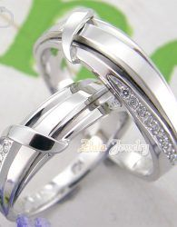 Cincin Kawin Sepasnag Emas Putih Kadar 50 Cincin Kawin Perak Cincin
