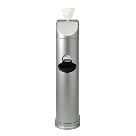 The Cleaning Station Gym Wipes Dispenser Hand Sanitizing Station