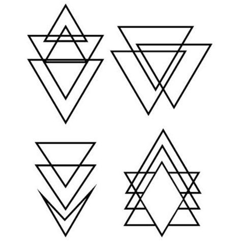 Set of 2 Waterproof Temporary Fake Tattoo Stickers Black Geometric Triangle Cool >>> Want additional info? Click on the image. (This is an affiliate link)