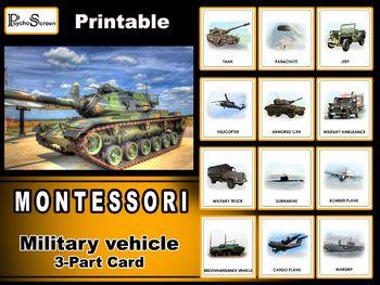 Military Vehicles Army Transport War Transportation Montessori