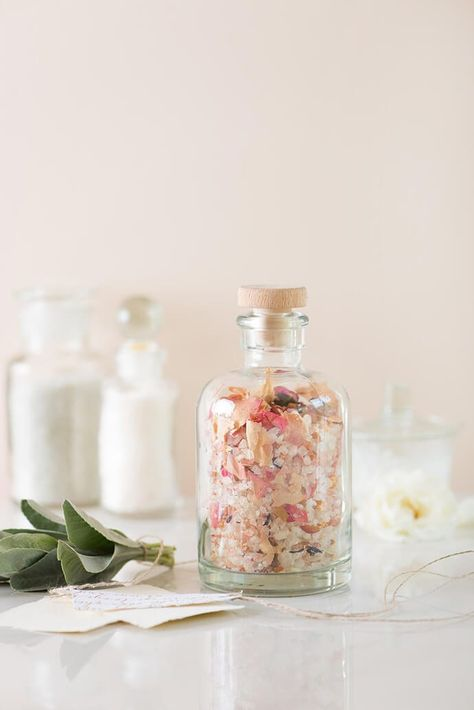 DIY Romantic Floral Bath Salts