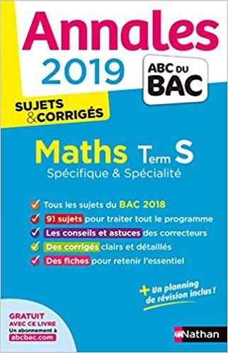 Telecharger Annales Abc Du Bac 2019 Maths Term S Spe Spe Livre Gratuit Pdf Epub Mp3 Math Term Abc Pdf Download