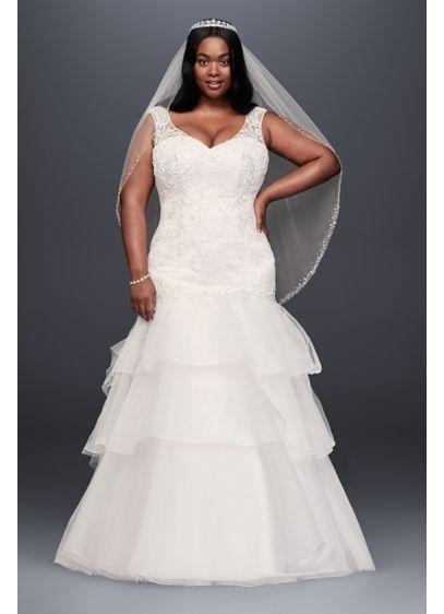 4242d30768 Long Mermaid  Trumpet Formal Wedding Dress - David s Bridal Collection