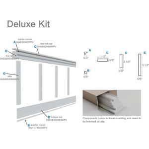 Ekena Millwork 5 8 In X 96 In X 32 In Expanded Cellular Pvc Deluxe Shaker Wainscoting Moulding Kit For Heig In 2020 Wainscoting Kits Pvc Wall Panels Ekena Millwork
