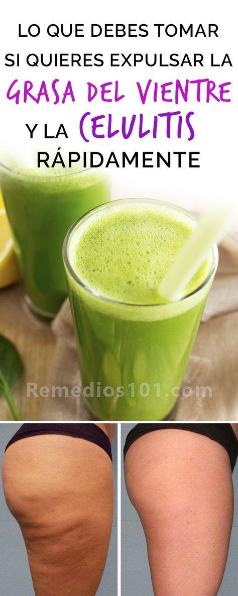 bebidas caseras para eliminar la celulitis