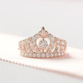 Buy Silver Necklace Silverearringssmallhoops Product Id 1072137080 Rose Gold Crown Ring Rose Gold Wedding Band Diamond Princess Ring