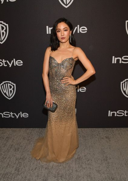 Constance Wu attends the 2019 InStyle and Warner Bros. 76th Annual Golden Globe Awards Post-Party at The Beverly Hilton Hotel.