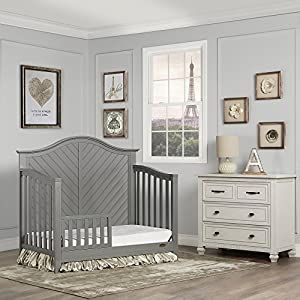 Dream On Me Ella 5 In 1 Storm Grey Convertible Crib Crib Bedding Sets And Baby Bedding In 2020 Convertible Crib Dream Furniture Crib For Sale