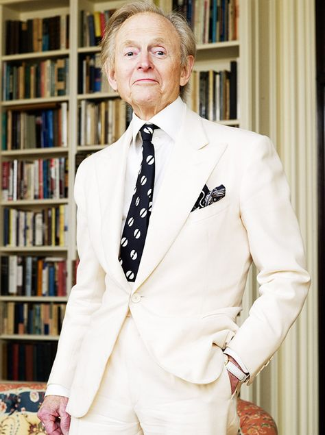 The ever dapper Thom Wolfe, another 'Trib writer who went on to write
