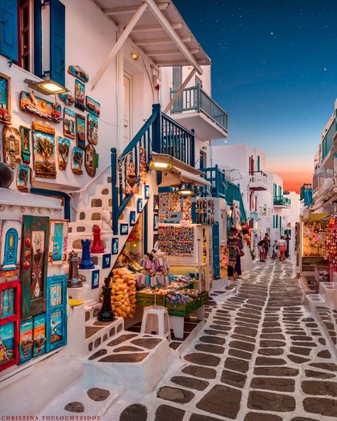 A street in Mykonos, Greece - pics Beautiful Places To Travel, Wonderful Places, Beautiful World, Beautiful Streets, The Places Youll Go, Cool Places To Visit, Places To Go, Mykonos Greece, Santorini