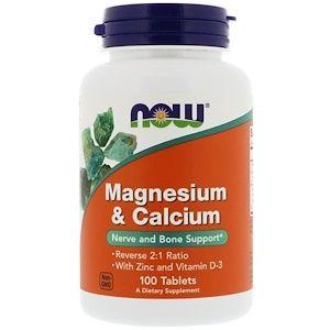 Now Foods Magnesium Calcium 100 Tablets Now Foods Magnesium Vitamins For Kids