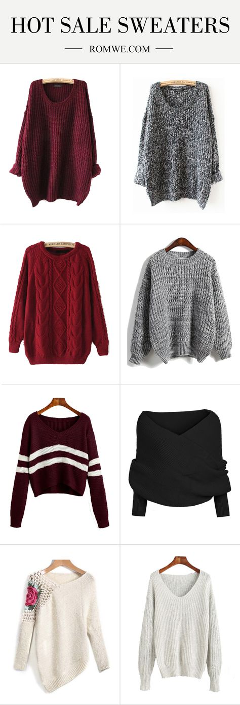 These bright sweaters are too precious! It's classic and colors make it so easy to wear! And choosing a necklace is a breeze! More saved for you at romwe.com!!!