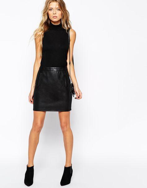 Leather mini skirt (Boss Orange £140)
